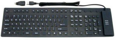 <strong>Flexibel toetsenbord USB</strong> / waterdicht – <br><strong>Flexible keyboard USB</strong> / waterproof